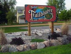 Road sign for Trailblazer Bar & Grill